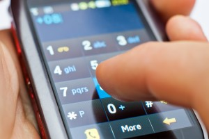 dialing on touch screen smartphone